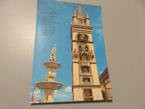 CP Card Vintage Messina Campanile Shipped 1958