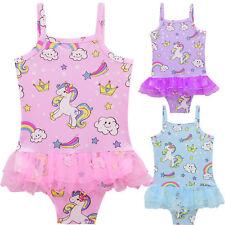 Kids Girl Baby Summer Swimwear Swimming Costume Princess Unicorn Swimsuit Bikini