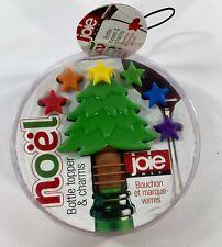 Joie Noel 7 Pc. Bottle Topper & Wine Charms Christmas Tree & Stars Multicolor