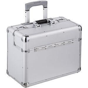 Alu pilot case trolley valise mallette de pilote sac à roulettes poignée