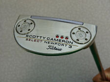 """MINT Titleist Scotty Cameron Select Newport 3 Putter Original Steel 34"""" w/ HC"""