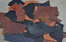 Leather Scrap Cow hide Bridle remnants 1 Pound Autumn Colors 3-4 ounce pieces-25