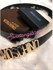 GOLD LETTERS SPELLING MOSCHINO BEST QUALITY BELT FREE POSTAGE FAST DELIVERY