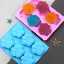 6Pcs Dog Cat Paw Silicone Chocolate Cookie Mould Baking Ice Cube Jelly Cake Mold