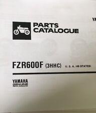 YAMAHA FZR 600 F 3HHC PARTS LIST MANUAL CATALOGUE 1994 paper copy.