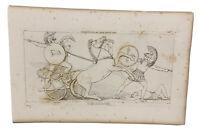 The Iilad Homer Odyssey Engraving John Flaxman 1805 Diomed Casating Spear Mars