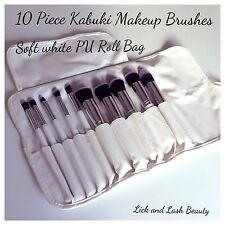 10 Pcs Professional Make up Brushes  Set foundation Blusher Kabuki Makeup Brush