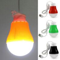 Popular DC 5V 5W Portable LED Bulb USB Light Reading Lamp White Light PoweDOFS