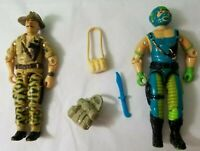 1984 Recondo & copperhead GI Joe action figure lot arah cobra vehicle driver v1