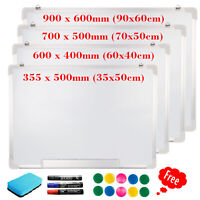 Magnetic Whiteboard Dry Wipe Notice White Board With Pens Office School Home New
