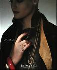 1987 Elsa Peretti Jewelry Tiffany & Co Pendant heart retro photo print ad S4