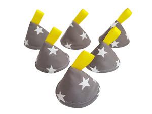 Pee Pee Teepee x6 // Wee Stop Cones Teepees // Boy Baby Shower Gift / Grey Stars
