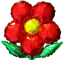 """Red Flower 18"""" Foil Balloon"""