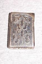 Old Win Alfie P-800 Engraved Gas Lighter Japan Japanese Vintage Cigarette Pocket