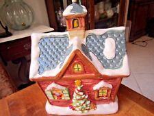 "Cookie Jar, Mrs Fields ""North Pole Elementary School"" Christmas Village 11"" tall"