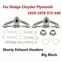 FOR 59-78 CHRYSLER/DODGE/PLYMOUTH MOPAR383-440 V8 RACING HEADER MANIFOLD/EXHAUST