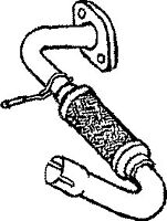FE808W EXHAUST PIPE FOR FORD TRANSIT 2.5 1994-2000