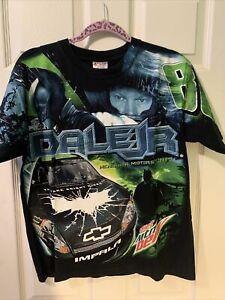 Chase Authentics Dale Earnhardt Jr. Diet Mtn Dew Green Men's Medium Nascar Shirt