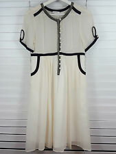 KOOKAI sz 10 (or 6 us )  womens silk beaded dress  NEW+TAGS RRP$239 [#1950]