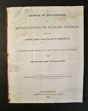 1841 - Census - Revolutionary Military Pensioners - Names - Residences +