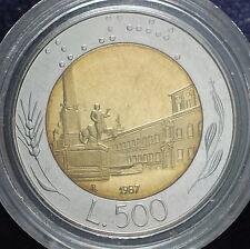 1987   Repubblica Italiana   500  lire  FONDO SPECCHIO  da divisionale