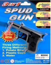 Zest Die-cast 3 in 1 Spud Gun 11.5cm Long Black Ajg1303
