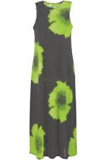 Jostar BLACK Tank Dress Green Hibiscus No Iron Travel Poly Spandex Slinky - XXXL