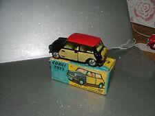 CORGI TOYS Nº 249, Mini-Cooper Avec De-Luxe vannerie presque comme neuf en boîte