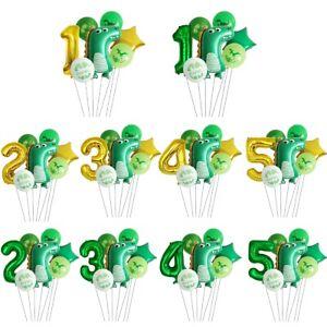 7pcs Dinosaur Foil Latex Balloon Set Kids Baby Shower Birthday Party Decoration