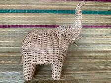 Elephant Wicker Hand Woven Rattan Hand Made New Decor Home Office Table Ornament