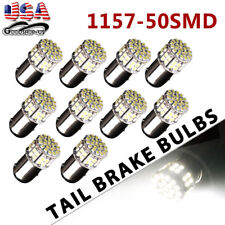 10x White 1157 50SMD Tail Brake Stop Backup Reverse LED Light Bulbs 1076 1152