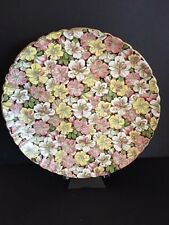 "Vintage China Mintons 9"" floral plate C 4208 petunias w/ brown background RARE"