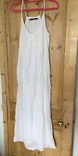 Zara White Long Cotton Summer Dress, Size xs - s