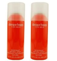 Clinique Happy Perfumed Deodorant Spray For Men 200 ml x 2 pack,  Free shipping