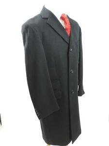 Austin Reed coat Cashmere & Wool Black Soft Hangs flawlessly UK 42 EU 52 Reg