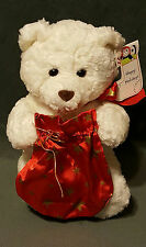 NWT 1998 GUND ZALES HOLIDAY TEDDY BEAR RED SATIN STAR BAG PLUSH STUFFED ANIMAL