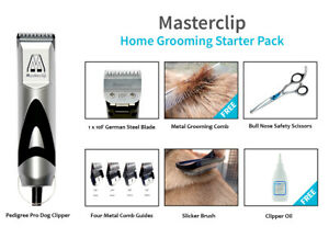 Dog clipper complete home grooming set with comb guides/scissors/brush/comb/oil
