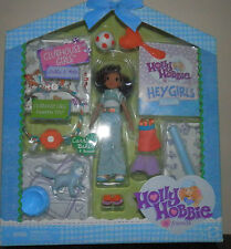 Holly Hobbie Clubhouse Figures  Carrie Baker and CAT bonnet