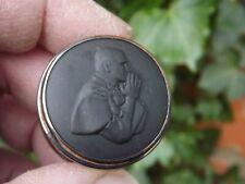 More details for 1982 uk papal visit black wedgwood sterling silver pill box birmingham hallmark