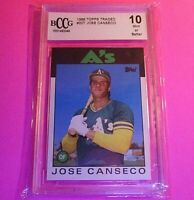 1986 Topps Traded  Jose Canseco (Rookie Card) (#20T) BCCG10 BCCG MINT CARD RC,
