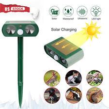 Solar Power Ultrasonic Animal Repeller Pest Repellent Cat Deer Raccoon Garden Us