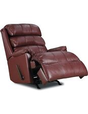Revive Leather Rocker Recliner with Power Recline (burgundy)