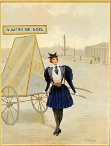 ORIGINAL VINTAGE POSTERAT NOEL ASSEMBLY BY BERAUD FOR FIGARO ILLUSTRE 1898