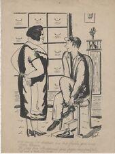 """""""CHAUSSURE A SON PIED"""" Dessin à l'encre de Chine par RIMEL (années 30)"""