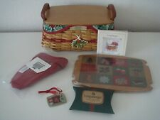 2002 Longaberger Christmas Traditions Red Basket Combo New