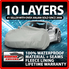 10 Layer Car Cover Indoor Outdoor Waterproof Breathable Layers Fleece Lining 273