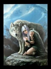 Lienzo Grande con lobo - Protector - Anne Stokes Imagen Impresa Póster