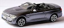 BMW M4 F83 Cabriolet 2014-17 gris Gris Métallisé 1:43 Bburago