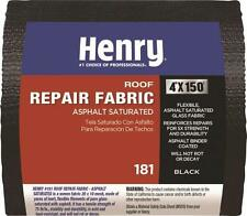 "NEW HENRY HE181195 ROLL 4"" X 150' ASPHALT SATURATED COTTON FABRIC HE181 9554494"