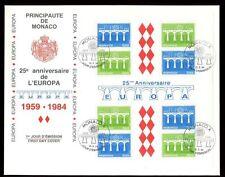 MONACO 1984 EUROPA feuille FDC chiffres 579